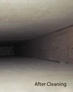 air duct after cleaning